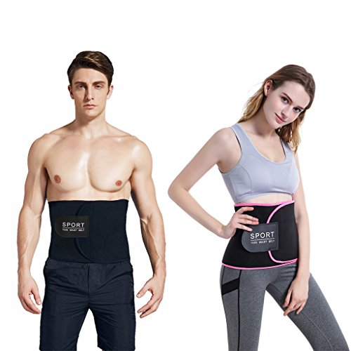 "SNORSO Slimming Sweat Waist Trimmer Belt,Neoprene Abdominal Trainer Low Back Support Weight Loss Belt with Sauna Effect for Men & Women,Waists Up To 50"" – DiZiSports Store"