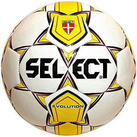 Balón de fútbol Select Evolution blanco amarillo tamaño N.4 ...