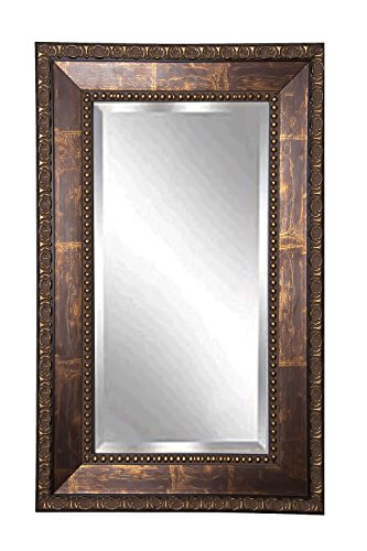 American Made Rayne Roman Copper Bronze Beveled Wall Mirror, 23.5 x (Roman Bronze Hanging)