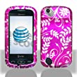 Premium - Pantech P9050/Laser Purple Flower Cover - Faceplate - Case - Snap On - Perfect Fit Guaranteed