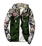 Product review for M2MO Mens Floral Long Sleeve Hooded Windbreaker Jacket