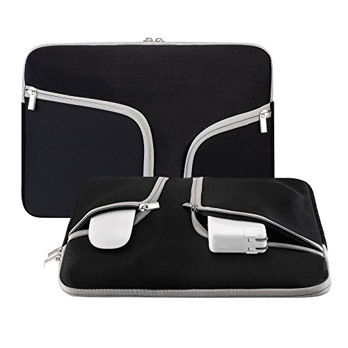 Happy Hours - 13 Inch Premium Quality Zipper Laptop Handbag Notebook Computer Briefcase Folio Netbook Sleeve Cover Bag for Apple Macbook Pro/Pro With or Without Retina(Black)