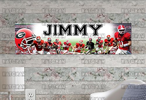 (Customized Name Painting Georgia Bulldogs Poster With Your Name On It Personalized Banner )
