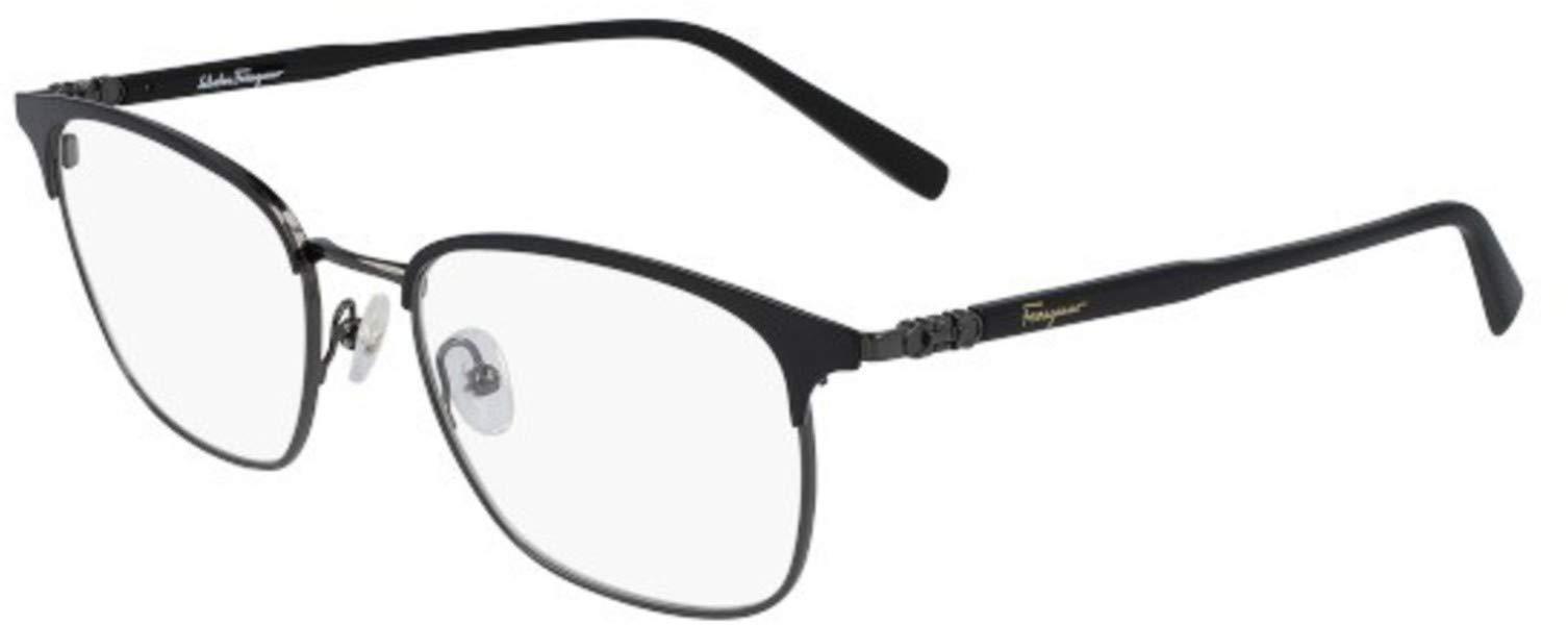 Eyeglasses FERRAGAMO SF 2170 021 BLACK/MATTE RUTHENIUM by Salvatore Ferragamo