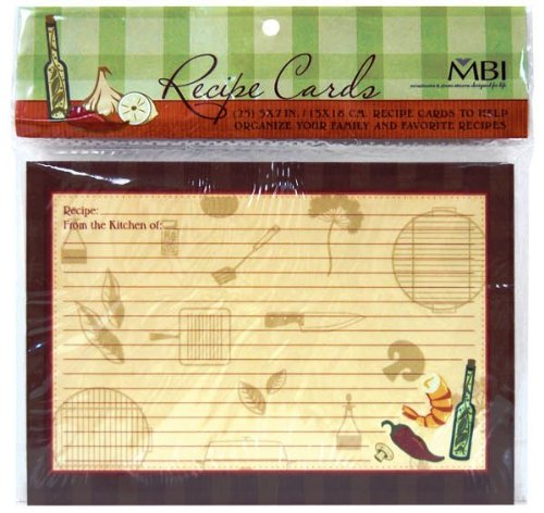 MBI 5x7 Inch Additional Recipe Cards (25pk), Family (899855) ()