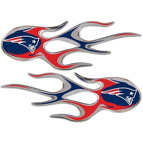 (NFL New England Patriots Micro Flame Graphics Decal (Pack of 2))