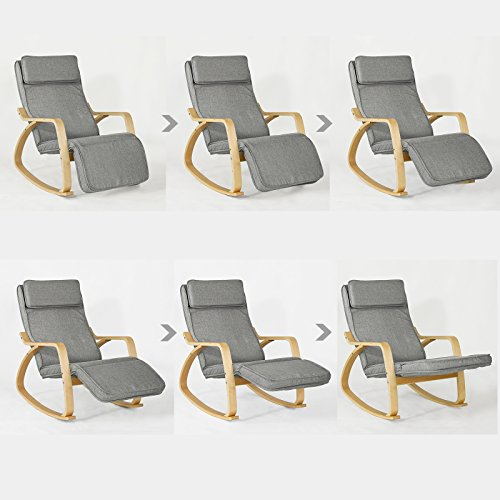 haotian comfortable relax rocking chair gliders lounge chair recliners with adjustable footrest. Black Bedroom Furniture Sets. Home Design Ideas