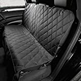 Peicees Deluxe Pet Car Seat Cover Black for Dog with Durable Seat Anchors for Cars Trucks SUV'S