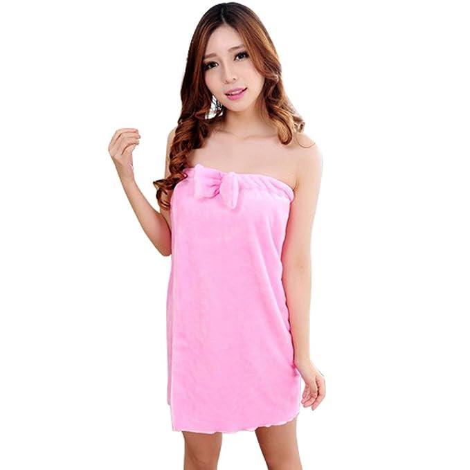 Avitalk - (Set de 2) Conjuntos de Traje Batas Vestido de Baño Bañador Pijama de una pieza para Mujer - rosa: Amazon.es: Ropa y accesorios