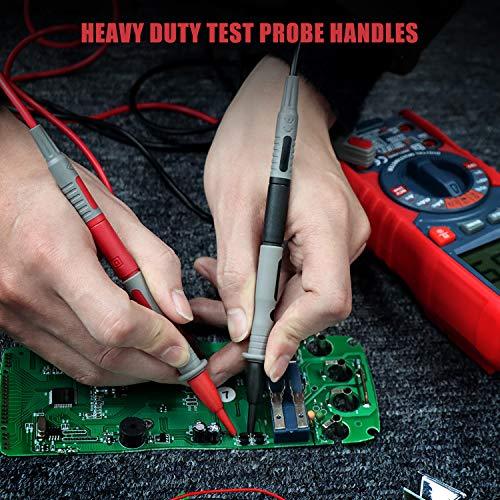 AstroAI 8Pcs Multimeter Test Leads Kit,Digital Multimeter Leads with Alligator Clips and Plunger Test Mini Hooks Test Probes 1000V 10A CAT III & CAT IV 600V for Multimeter, Voltmeter, Clamp Meter