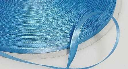 Kel-Toy Double Face Satin Ribbon, 1/4-Inch by 100-Yard, Antique Blue - Antique Blue Satin