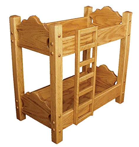 Amish Heirlooms Solid Maple Doll Bunk Bed, Corn Silk, 21....
