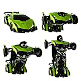 SainSmart Jr. RC Transformation Robot Car, Action Deformation Figure, Shape-shift Model Car, One-Touch Transforming
