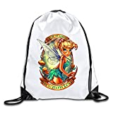 Peter Pan Lightweight Drawstring Cinch Bag Backpack