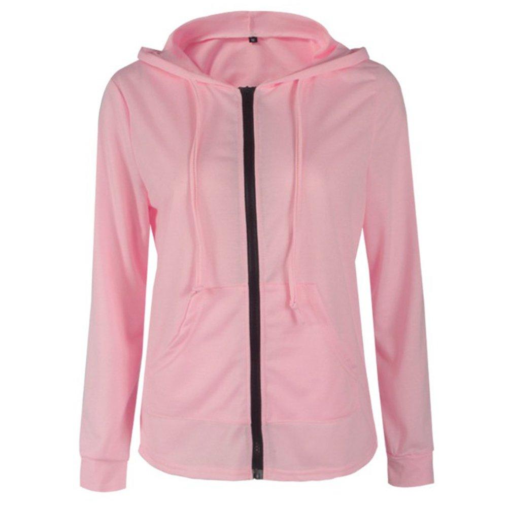 YYFS Women's Long Sleeve Zipper Cardigan Hooded Slim Sweatershirt for Autumn Winter