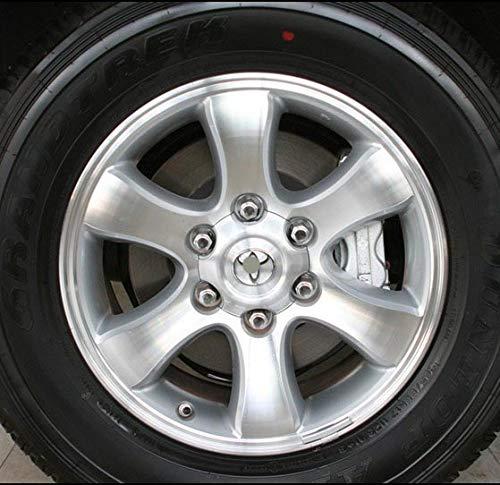 WYYYFA 4pcs 140mm 95mm Silver Full Chrome Wheel center Hub Cap Alloy hubcaps,For Toyota Land Cruiser 4000 Prado 4.0L2007-2013