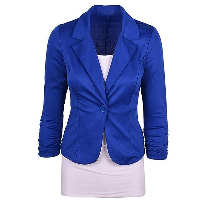 Linlink Venta de liquidación para Mujeres Casual Trabajo sólido botón Slim Color Traje de Oficina Cardigan Coat Chaqueta de Punto Outwear: Amazon.es: Ropa y ...