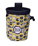 Pure Grit Hipster Cats Rock Climbing Chalk Bag (USA Made)
