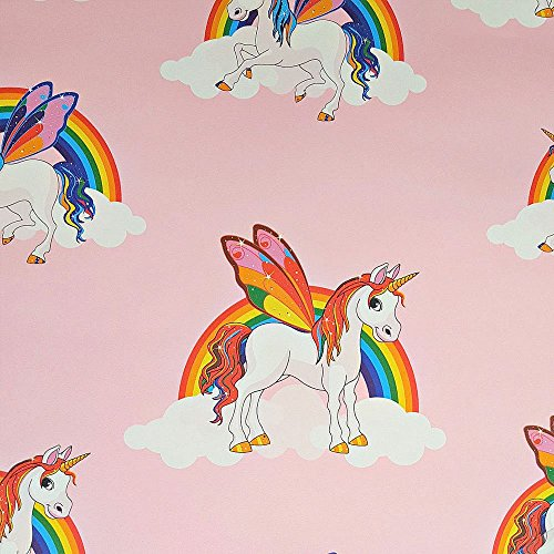 Rainbow Unicorn Wallpaper Girls Multicoloured Pony Bright Kids Feature Wall Pink Buy Online In Dominica At Dominica Desertcart Com Productid 52729983