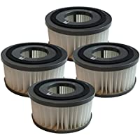 4 Replacement for Dirt Devil F15 HEPA Style Filter, Compatible With Part # 1SS0150000 & 3SS0150001, Washable & Reusable, by Think Crucial