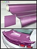 VViViD Purple Carbon Gloss Tech Art 17.75in x 60in 3 Layer 3D (not Printed) Realistic True Carbon Fiber Look cast Vinyl wrap for car, Boat, Bike XPO
