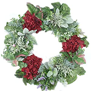 Emlyn Decorative Spring Wreath for Front Door or Indoor Wall Décor to Celebrate Spring Summer & Fall Season 11