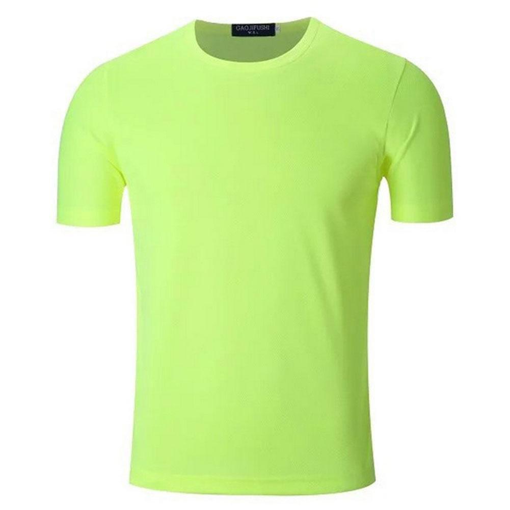 BBYaKi Delgada De Manga Corta Camiseta, Fluorescent Green, M