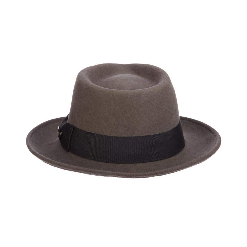 Scala Classico Men s Crushable Water Repelant Wool Felt Fedora Hat ... a5de4188848