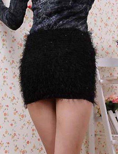 SUMMER HU & HU peluche elasticidad lentejuelas Minifalda negra ...