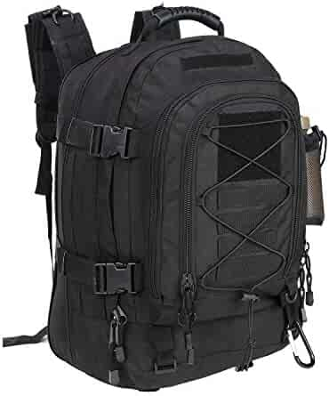 PANS Military Expandable Travel Backpack Tactical Waterproof Outdoor 3-Day Bag,Large,Molle System for Travel,Hiking,Camping,Trekking,Outdoor Sports,Work(Black)
