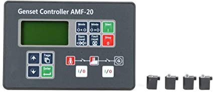 Pantalla Lcd Diésel Grupo Electrógeno Controlador Automático Panel de Control Amf-20 Controlador de Grupo Electrógeno Con Tornillos de Fijación Para Electrónica