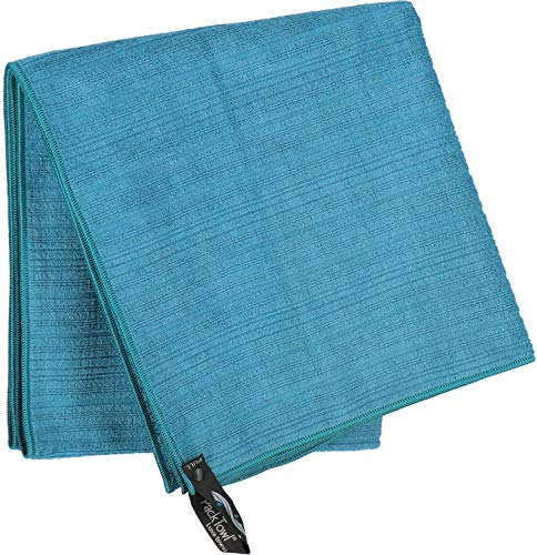 PackTowl Luxe Microfiber Towel, Aquamarine, Body- 25 x 54-Inch