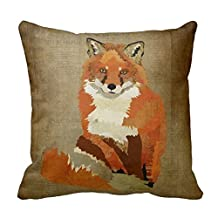 Cotton 20 X 20 Twin Sides Vintage Red Fox Pillowcases