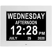 [Remote Control] Digital Calendar Day Clock 10 Inch Dementia Alzheimer Memory Loss Vision Impaired Non-Abbreviated Day…