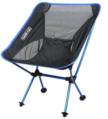 Lightweight Folding Camping Backpacking Chair - Updated Ultralight Portable Foldable Outdoor Camp Chairs for Hiking Motorcycling Fishing Car Travel Picnic Beach-Lounging Touring (Navy)