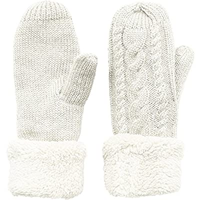 Women's Winter Gloves Warm Lining - Cozy Wool Knit Thick Gloves Mittens in 9 color