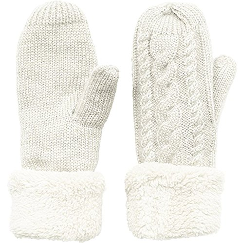 55cd7c48e Women's Winter Gloves Warm Lining – Cozy Wool Knit Thick Gloves Mittens in 9  color