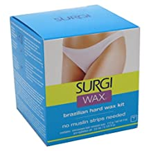 Surgi Wax Brazilian Hard Wax Kit For Private Parts 4 Ounce (118ml) (3 Pack)