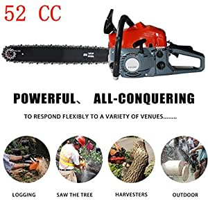 """Kaluo 52cc 20"""" Gas Powered Chainsaw, 2 Stroke Handheld Chain saw with Tool Bag (US STOCK) (52CC)"""