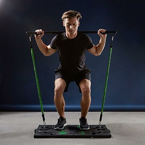 BodyBoss Home Gym 2.0 - Full Portable Gym Home Workout Package, Includes 1 Set of Resistance Bands (2) - Collapsible Resistance Bar, 2 Handles + More - Full Body Workouts for Home, Travel or Outside by BodyBoss (Image #8)