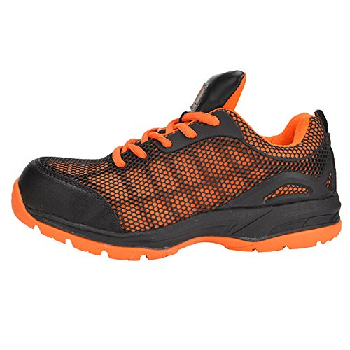 Optimal Women's Safety Shoes Work Shoes Protect Toe Shoes … Orange Black by Optimal Product (Image #2)