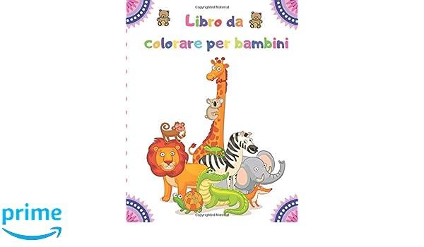 Amazon Com Libro Da Colorare Per Bambini 100 Animali Tra Cui