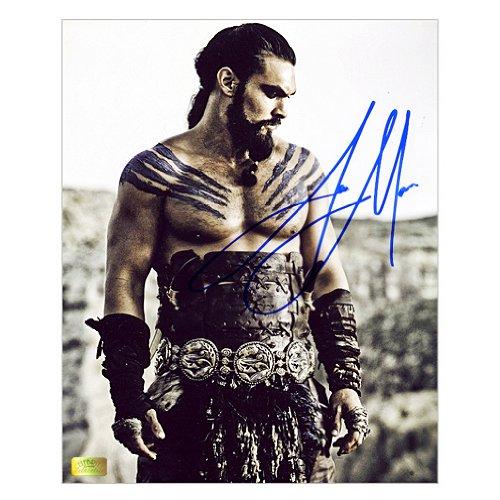 Jason Momoa Autographed 8x10 Khal Drogo Dothraki Warrior Photo by Celebrity Authentics