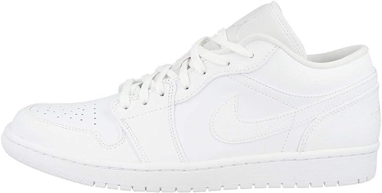 Jordan Men's Shoes Nike Air 1 Low Triple White 553558-130