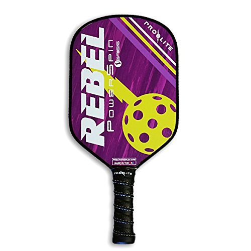 ProLite Rebel PowerSpin Pickleball Paddle - Prince Purple / Blondie Yellow by Pro-Lite
