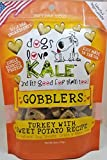 Dogs Love Kale Dog Treats, Gobblers, Crunchy Pet Snacks, Organic, Gluten-Free, Corn-Free, And Soy-Free, 6 Calories, 6 Oz. Bags (082007-12) Case Of 12 Bags
