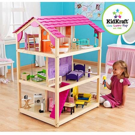 KidKraft So Chic Wooden Dollhouse with 45 Pieces of Furniture by KidKraft
