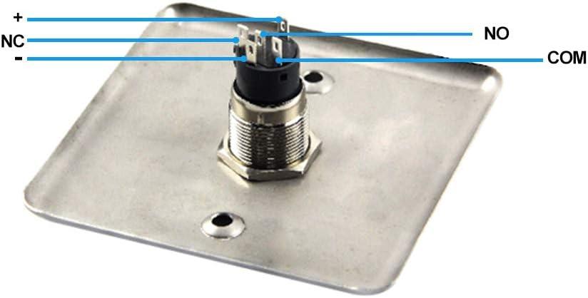 NN99 DC12V Edelstahl T/ürausgangsknopf Home Schalter Metall Panel Push Button Release zu Verlassen f/ür T/ürschl/össer Zugangskontrolle Sicherheitssystem T/ür/öffner NO//COM BXG-86