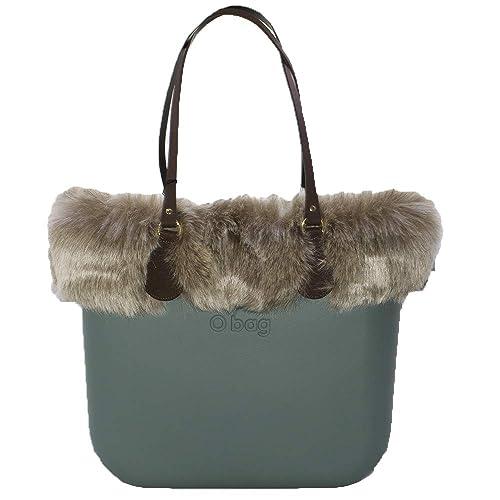 OBAG - Bolso al hombro de Caucho para mujer Verde Verde 31X39X14CM: Amazon.es: Zapatos y complementos