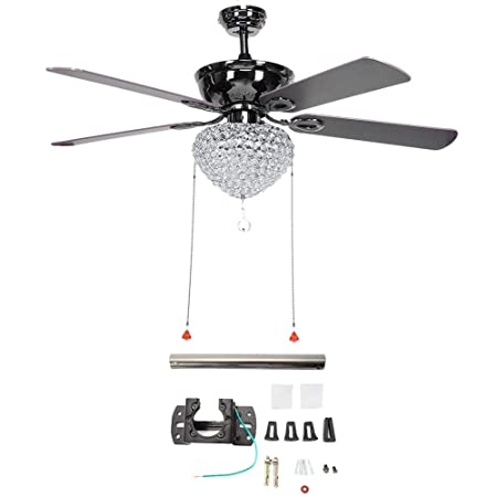 42inch 60W LED Ceiling Fan Light With Push switch 5 Blade for Living Room